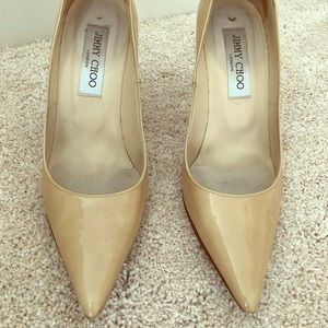 Nude patent jimmy choo pumps size 37